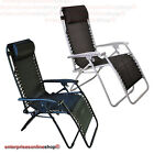 Outdoor Reclining Folding Chair Garden Patio Furniture Sun Lounger Black/silver