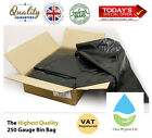 BLACK EXTRA HEAVY DUTY REFUSE BAGS SACKS BIN LINERS RUBBISH BAG UK 250G QUALITY