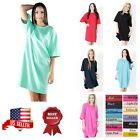 Women Lady Sleep shirts Sleepwear Beachwear Night Gown Long T-Shirt Cotton Tee