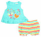 Girls Baby Babaluno Butterfly Top & Stripe Nappy Shorts Set Newborn to 12 Months