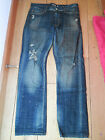 KING KRASH CRASH WASHED RIPPED TRASHED INDIGO STRAIGHT RIPPED JEANS 30 WAIST