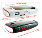 1000mAh Solar Charger LED Flashlight  FM Radio Speaker Portable Power Bank NEW