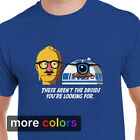 Star Wars THESE AREN'T THE DROIDS YOU'RE LOOKING FOR Mens T-shirt, R2D2 C3PO Tee $15.99 USD