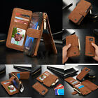 Kyпить Genuine Leather Removable Flip Wallet Case Cover For Samsung Galaxy S7 S7Edge S6 на еВаy.соm