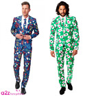 MENS ADULT OPPOSUIT OPPO SUIT VEGAS CASINO POKER CARDS MAGIC FANCY DRESS OUTFIT