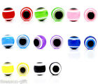 100 Evil Eye Stripe Round Resin Spacer Beads 10mm M0188