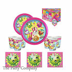 Shopkins Girls Birthday Party supplies plates cups napkins and tablecovers