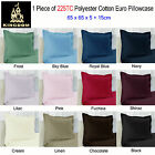 1 Pce of  Easy Care  Polyester Cotton EUROPEAN Pillowcase 65 x 65cm