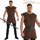 Brown Tunic Warrior Viking Medieval Adults Mens Fancy Dress