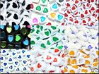 flat round 200pcs, cube  80pcs, assorted heart acrylic beads white & black