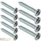 No.6 (3.5mm) POZI PAN HEAD SELF TAPPING TAPPER SCREWS ZINC WOOD SCREWS AB POINT