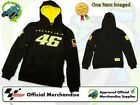 NEW OFFICIAL 2013 GENUINE ROSSI VR/46 MENS BLACK HOODIE/FLEECE/TOP VR46 RANGE