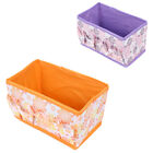 Folding Floral Pattern Cosmetic Makeup Jewelry Storage Box Case Organizer