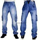 TRUE PEVIANI CARGO G JEANS,  HIP HOP URBAN TIME IS MONEY MENS STAR STONE COMBAT