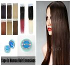 "16""-24"" PU Seamless Tape In Skin Weft Remy Human Hair Extensions Brazilian Hair"