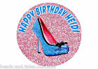 Glitter Womens High Heel Shoe Cake Decoration icing sheet Birthday Party Cake