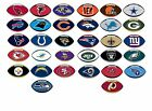 NFL Decal Sticker Football Shape Design Licensed Choose from all 32 Teams on eBay