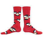 DISGUISE Fashion Novelty Cotton Mens Crew Socks casual glasses funny face