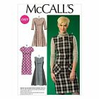 McCalls 7014 Pinafore Dress Patch Pockets Cap 3/4 Sleeves Sewing Pattern M7014
