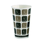 16oz Caffe Hot Drinks Paper Cups 50/100/250/500 Coffee Tea Disposable