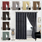 Eyelet Tape Ring Top Curtains Fully Lined Ring Top Curtains With Two Tie Backs