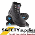 Steel Blue Argyle Lace Up Black Safety Boot