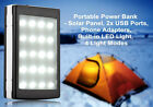 50000mAh Dual USB Portable Solar 20LED Battery Charger Power Bank For Cell Phone