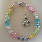 Personalised Glass Pearl Bracelet, Ladies/ Childs Gift
