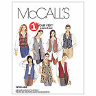 McCalls 2260 1 Hour Waistcoast Vest Pockets Sewing Pattern Small-XXL M2260 7in1