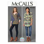 McCalls 7251 Loose Gathered Blouse Top Shirt Button Down Sewing Pattern M7251