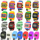 UNISEX Womens Men LED Watch Stripe Sports Silicone Watches Digital Wristwatch HX