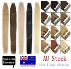"""AU Stock Seamless Tape In Weft Brazilian Remy Human Hair Extensions 16"""" 18"""" 20"""""""