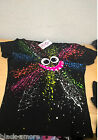 Splat Face Top Emo Punk Hand Printed Glow in the dark by Couch UK Size Small