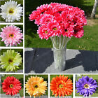 Home Garden - 10Pcs Gerbera Bouquet Rose Flower Silk Artificial Daisy Wedding Home Garden