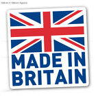 Made In Britain GB Flag Car Bike Vinyl Printed Labels Stickers X 2 -100mmX100mm