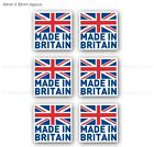 Made In Britain GB Flag Car Bike Vinyl Printed Labels Stickers X 6 - 30mm X 30mm