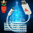 MFi Flat Flowing LED Lighted up charging Lightning USB iphone charger cable5 6 7
