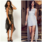 New LIPSY Sequin BNWT Peplum Party Evening Mini Date Prom Club Bodycon Dress