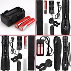 5000LM XM-L T6 LED Zoomable Focus Flashlight Torch Lamp 18650 US Charger US077A