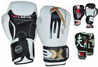 3XSport Leather Boxing Glove Muay Thai Kick Boxing Training Grappling Sparring
