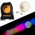 Glow Juggling Ball Set - 5x Slow Fade LED Juggling Balls & Firetoys Bag