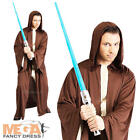 Jedi Robe Star Wars Adult Fancy Dress Mens Long Cloak Robe Costume Accessory