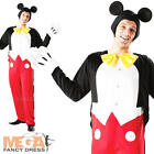 Deluxe Mickey Mouse Fancy Dress Mens Official Disney Adult Costume Outfit + Ears