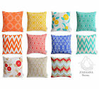 Colourful Bright Geometric Cushion Covers Modern Floral Pillow Cases Moroccan