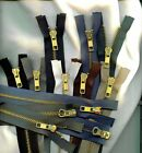 "30"" #5 Brass YKK Jacket 2-Way Zippers Beige Black Md Grey Brown Olive Drab"