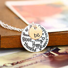 GIFT Plated Golden Lettering Disc Pendant Necklace The Best Gift To Mom