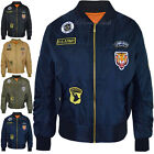 New Ladies Womens Retro Bomber Jacket Scooter US Army Badges Vintage Coat Size