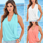 2016 Summer Women Shirt Sleeveless Chiffon Blouse Loose Casual Tank Tops Vest