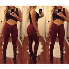 Fashion Women Denim Skinny Pants High Waist Stretch Jeans Slim Pencil Trousers