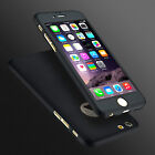 New Hybrid 360° Hard Ultra thin Case+Tempered Glass Cover For Apple iPhone Model